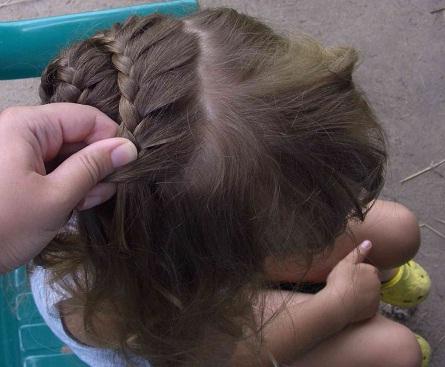 Плетение корзиночек из волос