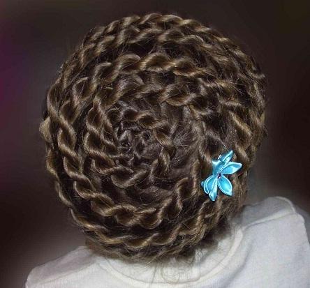 Улитка причёска
