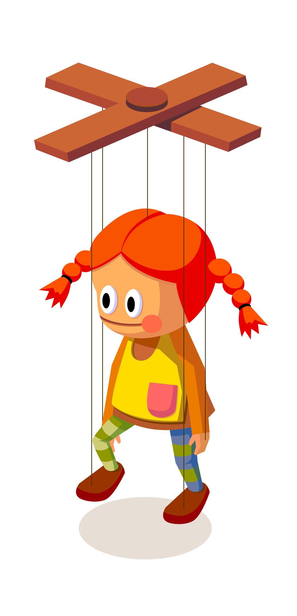 Кукла-марионетка для детей