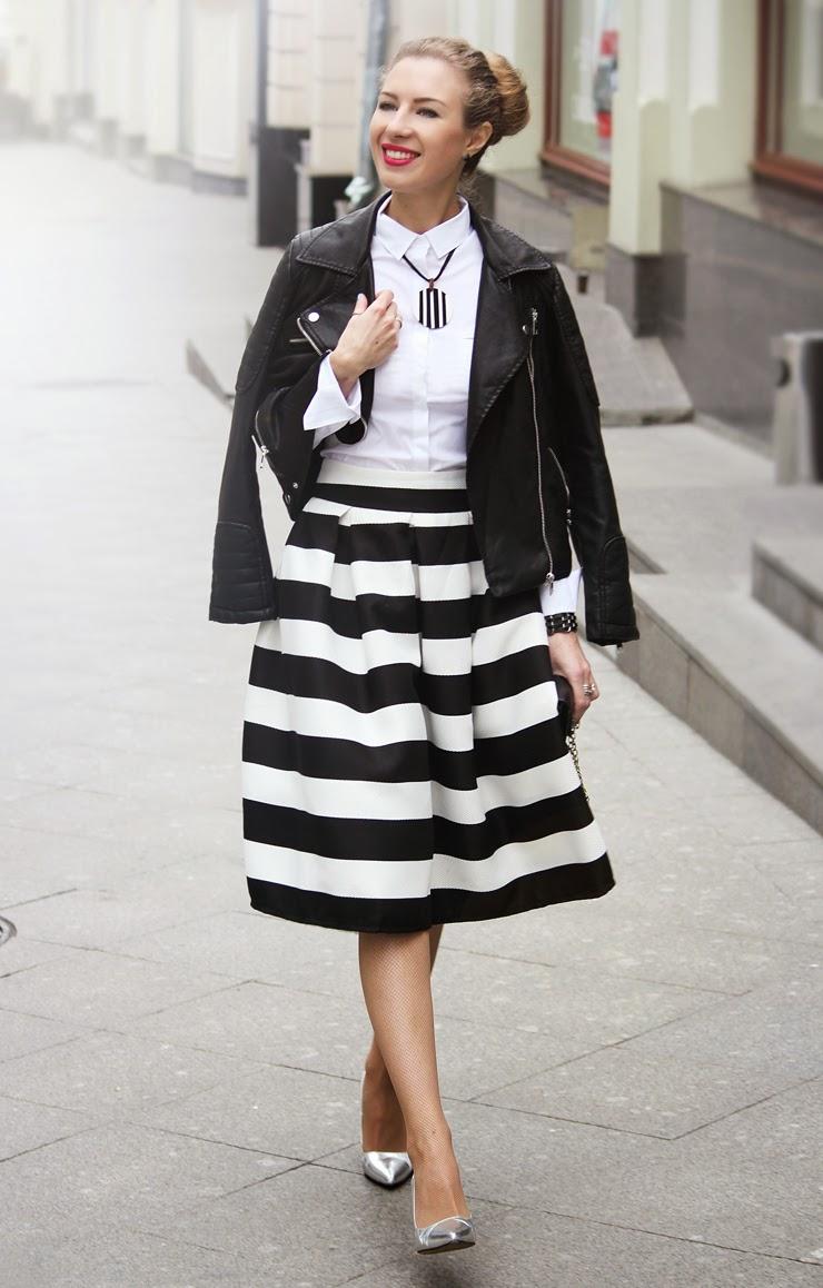 Кожаная куртка юбка миди